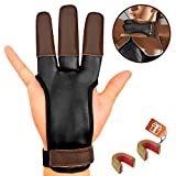 KESHES Archery Glove Finger Tab Accessories - Leather Gloves for...