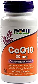 Now Foods CoQ10, 60 Vcaps 30 mg