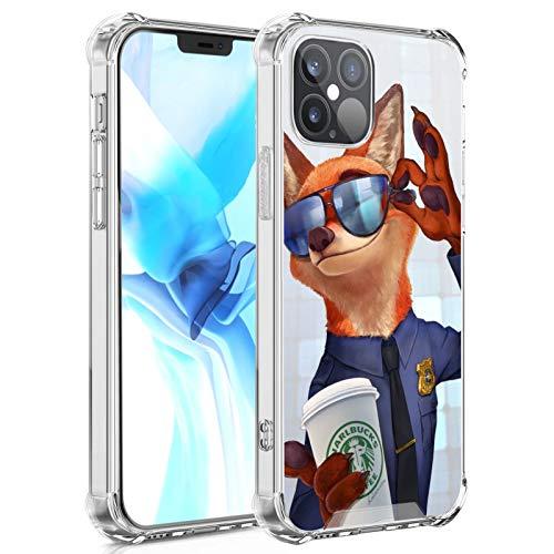 DISNEY COLLECTION Zootopia Nick Fox - Carcasa para iPhone 12, diseño transparente