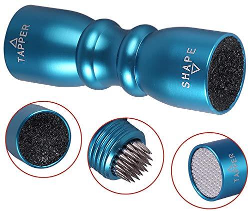 eSynic 3-in-1-Werkzeug für Billard-, Snooker- und Pool-Queue, Shaper, Scuffer, Belüfter, blau