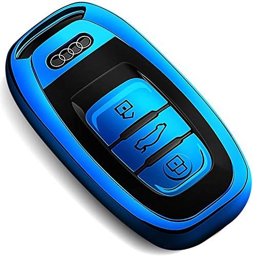 COVELL - Cover per portachiavi Audi, in morbido poliuretano termoplastico, protezione completa, compatibile con Audi A4 A5 A6 A7 A8 Q5 Q8 R8 RS4 RS5 RS6 RS7 senza chiave