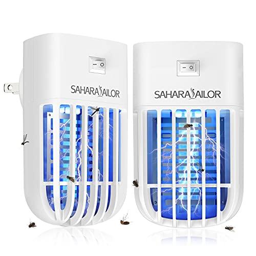 Sahara Sailor Lámpara Antimosquitos Eléctrico,1200V Plug in Lámpara Repelente de Mosquitos, Mini Insecticida, para Cocina,Dormitorio, Interior,Moscas, Mosquitos,Insectos,(2 paquetes)