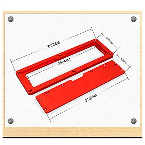 HLONGG Flip Cover Plate Tool Spezial Home Carpenter Einstellbares Zubehör Aluminiumlegierung Genau Einfache Verwendung Schnelle Flip-Floor-Tischeinlage Elektrische Kreissäge,Rot