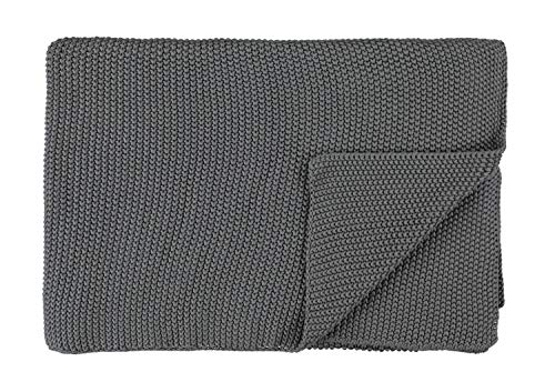 Marc O Polo Strick Dekokissen Plaid Nordic Knit Stone Plaid 130x170 cm