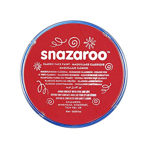 Snazaroo Classic Face and Body Paint, 18ml, Bright Red