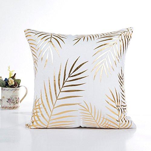LuckyGirls Gold Folie Druck kissenhülle Sofa Taille Wurf Kopfkissenbezug Pillow Cover