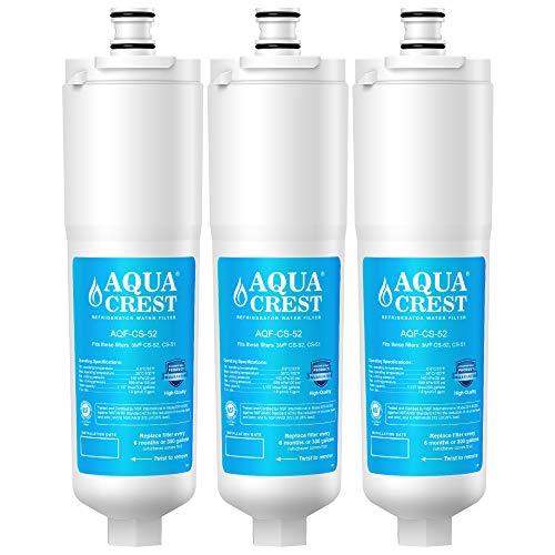 AQUACREST CS-52 Refrigerator Water Filter, Compatible with 3M Cuno CS-52, CS-51, CS-452, CS-522, CS-532, CS-562, CS450, CS-512, W1085590, 56932, 2168701, 51000, 52000 (Pack of 3)