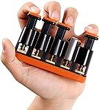 TANOFAR Appareil de musculation des doigts pour débutants de guitare pour piano Poignée réglable à 5 doigts Pour améliorer la dextérité et la force des doigts