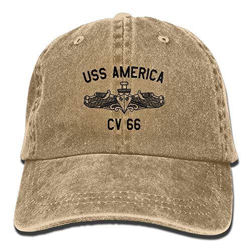 Funny Z Us Navy USS America CV 66 Classic Jean Gorra