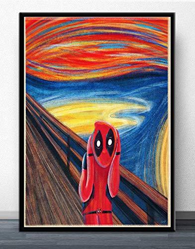 Film Anime Poster und Drucke Wandkunst Malerei Bilder für Wohnzimmer Wohnkultur,Rahmenlose Malerei-30X45cm