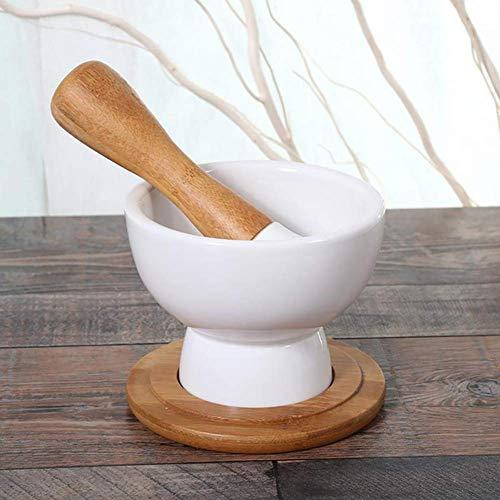 LLDKA Keramik-Mörser und Stößel, Gewürzmühle, beständig, Antihaft- und leicht zu reinigen, geeignet für Gewürze