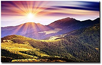 So Crazy Art-Wall Art Painting Sunshine In Mountains Pictures Prints On Canvas Landscape The Picture Decor Oil Home Modern Decoration Print