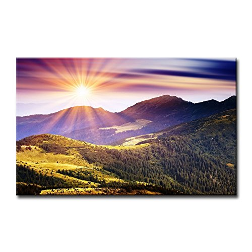 Wandbild, Sonnenschein in den Bergen, Bilder auf Leinwand, Landschaft, Dekoration, Öl für Zuhause, moderne Dekoration