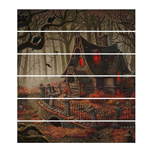 Xyxiaolun Halloween Treppen Baseboard Yinsen Altes Haus Selbstklebende Wohnkultur Treppen Sockelleisten Abnehmbare 18 * 100 * 6 cm