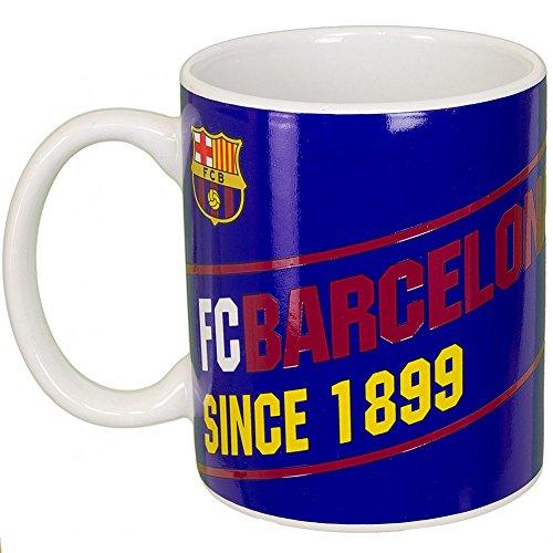 Keramik-Tasse mit FC Barcelona Design, Aufschrift Since 1899 (Einheitsgröße) (Blau/Scharlachrot/Gelb)