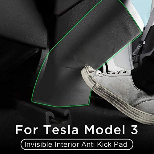 ZGYQGOO Unsichtbarer innerer Anti-Kick-Pad-Schutz Seitenkanten-Filmschutzaufkleber fuuml;r Tesla Model 3 2018-2019