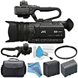 JVC GY-HM170UA 4KCAM Compact Professional Camcorder with Top Handle...
