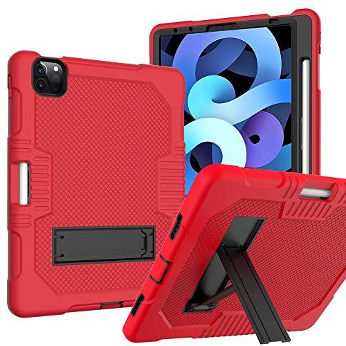 QiuKui Tab Funda para iPad Air 4 10.9'2020, Cubierta DE Stock DE CHOQUERO DE Goma COMPROBLE DE CABURA para NIÑOS para iPad Air 4 A2316 (Color : Rojo)