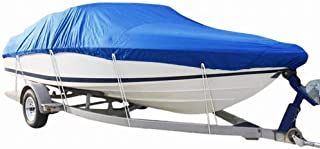 PARTS-DIYER 210D Oxford Fabric Heavy Duty Waterproof Boat Cover Fit for V-Hull,Pro-Style,Fishing Boat,Runabout,Bass Boat
