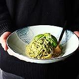 COOLSHOPY el Norte de Europa 9 Pulgadas Grande Superficial Tazón Western Spaghetti Bowl Ensaladera Bol Vajilla de cerámica del hogar Hogar