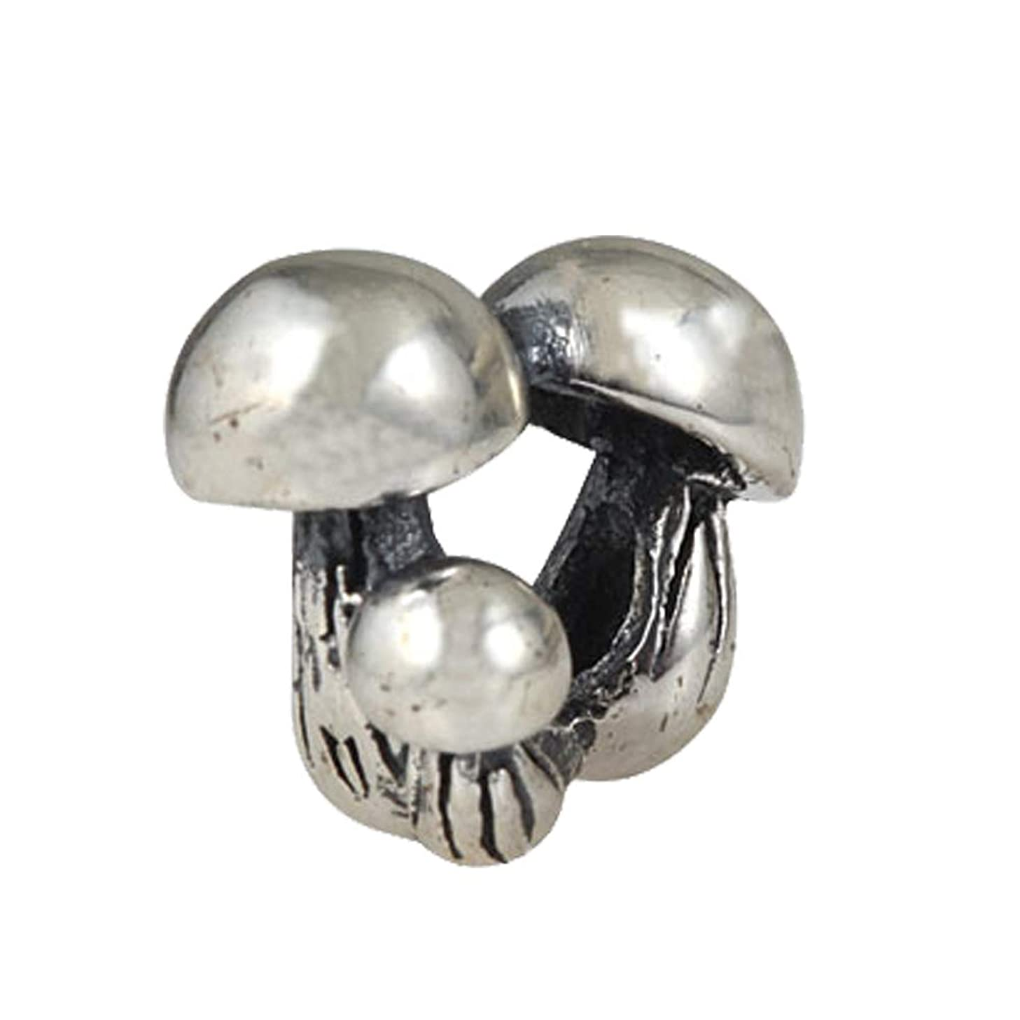 Mushroom Charm 925 Standard Sterling Silver Family Bead Charm Happy beads Fits European DIY Charms Bracelet