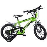 Dinobikes Kinderfahrrad Bicicleta, Niños, Verde, 16 Pulgada
