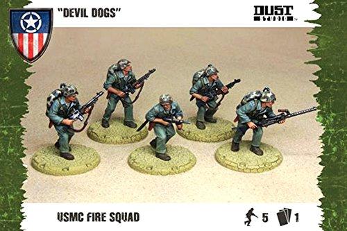 Dust Tactics: Allies USMC Fire Squad \