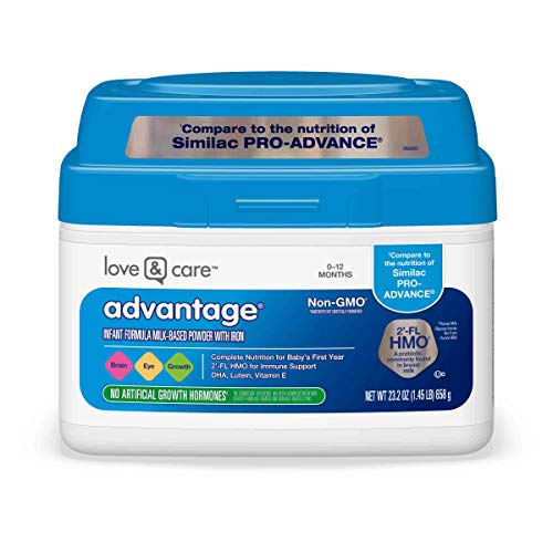 Love & Care Advantage Non-GMO* Infant Formula Milk-Based Powder with Iron, 23.2 Ounce, White, 1.45 Pound (Pack of 1)