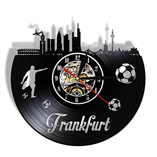 wttian City Football Stadium Fans Cellebration Champions Schallplatte Wanduhr Reisegeschenk Uhr Uhr