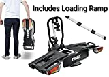 Portabicicletas Thule 933 EasyFold, hasta 2 bicicletas, para montar sobre la bola del remolque, plegable con rampa de carga