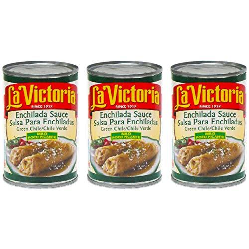 La Victoria Enchilada Sauce - 3 Pack Bulk La Victoria Green Enchilada Salsa (Mild)
