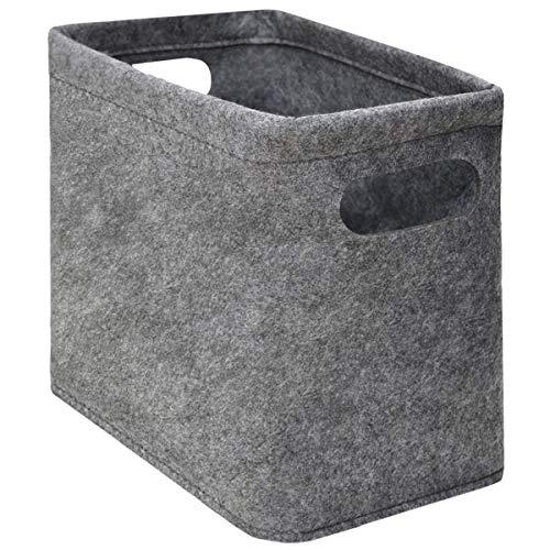 DuneDesign Filz Aufbewahrungsbox - Bad Deko Korb - Toilettenpapier Aufbewahrung - Box für 4 Klorollen