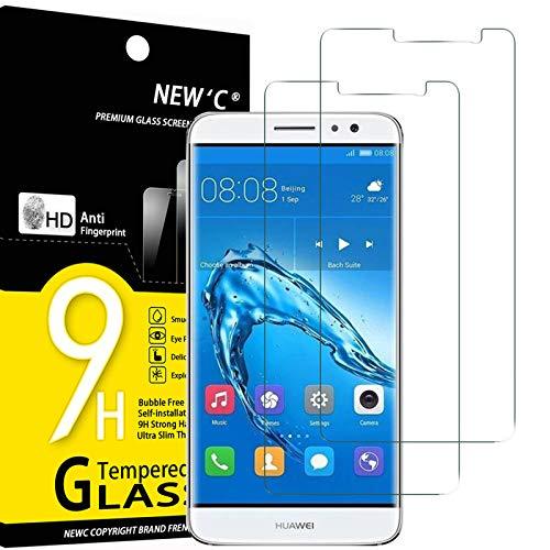 NEW'C 2 Unidades, Protector de Pantalla para Huawei Nova Plus, Antiarañazos, Antihuellas, Sin Burbujas, Dureza 9H, 0.33 mm Ultra Transparente, Vidrio Templado Ultra Resistente