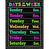 Teacher Created Resources Chalkboard Brights Days of The Week Chart