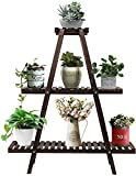 Augosta 3 Tier Wood Plant Stand, Large Multi Tiered Plant Shelf for Multiple...