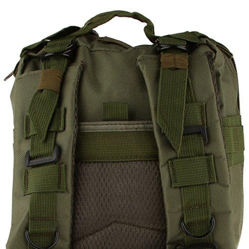 Sharplace Mochila Táctica Militar al Aire Libre de Gran Capacidad 30 L - 8 Colores - Verde