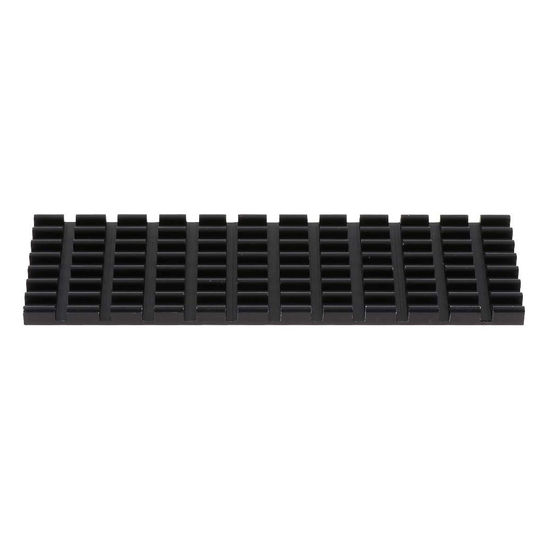 Prettyia 1 Pack PCIe M.2 SSD 2280 Heatsinks Cooler DIY Laptop PC Memory Cooling Fin Black