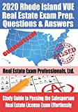2020 Rhode Island VUE Real Estate Exam Prep Questions and Answers: Study Guide to Passing the Salesperson Real Estate License Exam Effortlessly