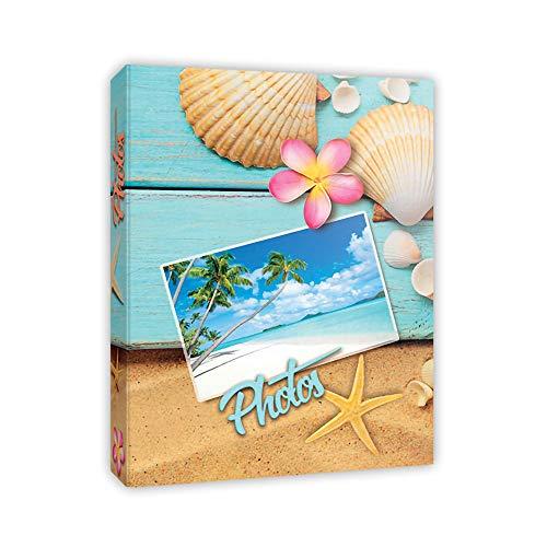 Generico Álbum de fotos, 300 bolsillos para fotos de 12 x 18/13 x 18/13 x 19/13 x 20 (5 x 7) – Memo + portanegativos + CD/DVD. – Fundas modernas 4 diseños a elegir (Mar)