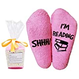 Moyel Women Reading Socks Book Lovers Gifts Fluffy Fuzzy Slipper Warm Cozy Socks