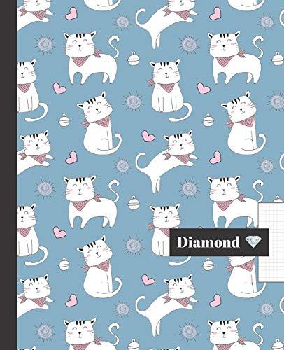 CUADERNO ESCOLAR: Hoja cuadriculada 4 milímetros    Tamaño especial para la mochila o cartera del colegio    120 páginas de Papel de alta calidad 4 mm   Bonito diseño de gatitos y corazones.
