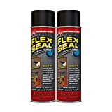 Flex Seal Spray Rubber Sealant Coating, 14-oz, Black (2 Pack)