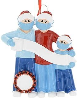 YORKSAIN Personalized Family Members Name Christmas Ornament Kit, 2020 Quarantine Survivor Customized Christmas Tree Hangi...