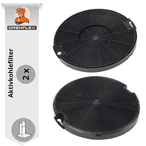 DREHFLEX-Filtro de carbón/filtro de carbón activo/filtro de olor-apto para diversos almuerzo para AEG-Electrolux/Faber/IKEA/Smeg/para número de pieza 4055093712/405509371/112.0067.944 112.0254.245