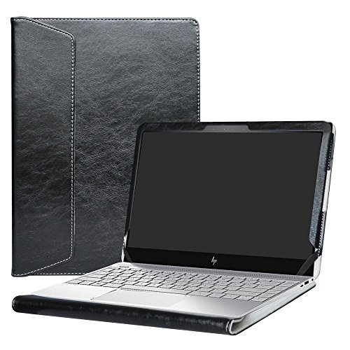 """Alapmk Diseñado Especialmente La Funda Protectora de Cuero de PU Para 13.3"""" HP Envy 13 13-adXXX Series (Tales como 13-ad109ns,13-AD006NS,13-AD007NS,etc.) Ordenador portátil,Negro"""