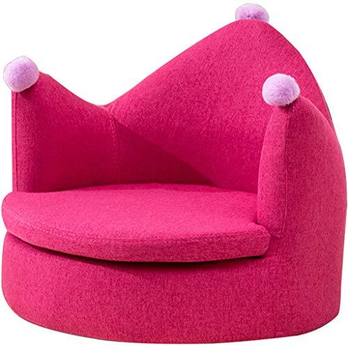 ZYCSKTL Creative Crown Plush Fans Your Sofa Chair, Sillón De Algodón Y Lino De Esquina De Lectura para Dormitorio, Extraíble para Limpiar (Color : Rose Red, Size : 51 * 50 * 45cm)