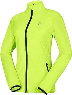 Women's Packable Windbreaker Jacket, Super Lightweight and Visible, Outdoor Active Cycling Running Skin Coat
