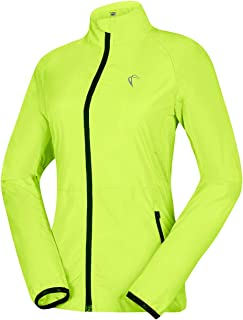 J.CARP Women's Packable Windbreaker Jacket,  Super Lightweight and Visible,  Outdoor Active Cycling Running Skin Coat