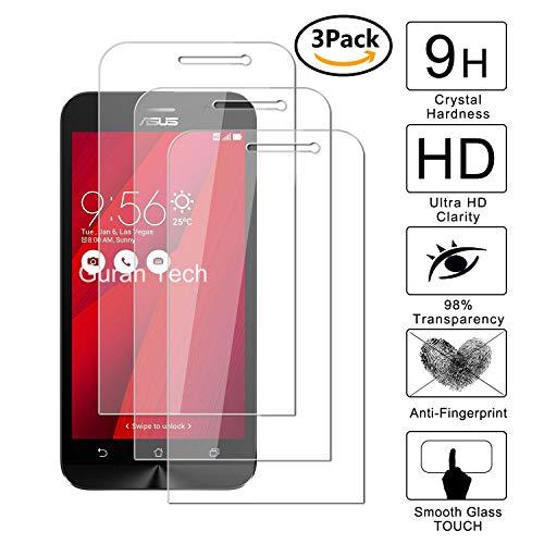 Guran [3 Unidades] Protector de Pantalla Vidrio Cristal Templado para ASUS Zenfone Go ZB500KL Smartphone Glass Vidrio Templado Film (9H, 2.5D Edge, 0.3mm)