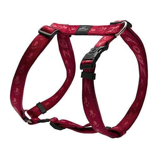 Rogz - Arnés con forma de H modelo Alpinist para perros (Mediana (M)) (Rojo)